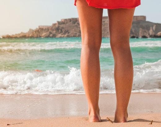 mer été sable jambes lourdes