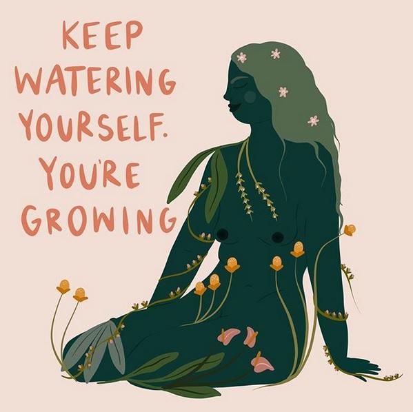 keep watering yourself - ©harmonywillowstudio