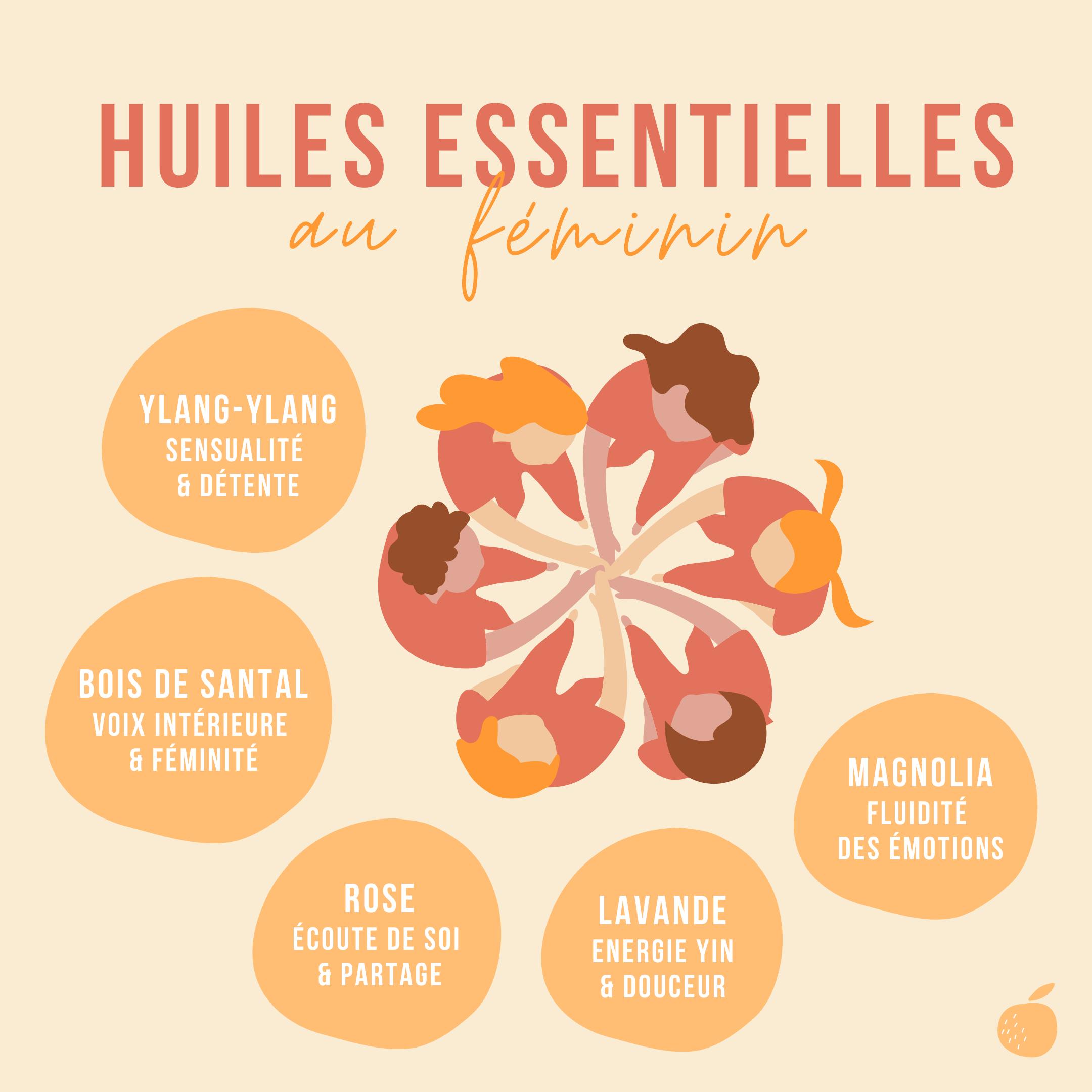 huiles essentielles au feminin
